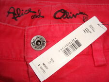 NWT$187 ALICE+OLIVIA Fitted Slim Skinny Pink Jeans Made in USA Sz 2