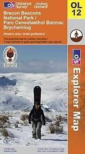Brecon Beacons National Park: Western and Central Area OL12 Map Ordnance Survey