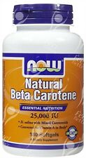 Now Foods, Natural beta caroteno - 25000iu X180 Cápsulas