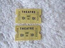 American Girl Doll Molly 2 Movie Tickets from her Theater Seats~Free Shipping
