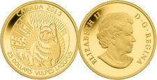 2013 Gold 'Arctic Fox' 1/4oz $25 Gold Coin .9999 Fine *No Tax (13138)