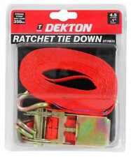 """1"""" RATCHET STRAP TIE DOWN ROOF RACK CARGO TRAILER MARQUEE 25MM x 4.5M 130KG MAX"""