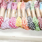2x 10M 2mm Cotton Twine Wedding Party DIY Crafts String Ribbon 11 Divine Colors!