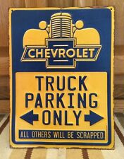 Chevrolet TRUCK PARKING Only Metal Vintage Style Gas Oil Pump Silverado S10
