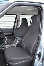 Land Rover Discovery 3 & 4 Front Pair Black Tailored & Waterproof Seat Covers NA