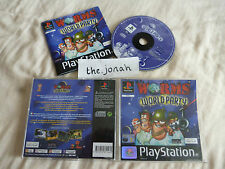 Worms World Party PS1 (COMPLETE) black label Sony PlayStation strategy rare
