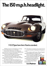 JAGUAR E TYPE V12 XK-E RETRO A3 POSTER PRINT FROM CLASSIC 70's ADVERT