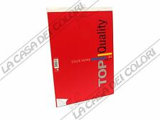 TOP QUALITY - BLOCK NOTES - A4 - QUADRETTO 5 mm - 1 PEZZO - COPERTINA ROSSA