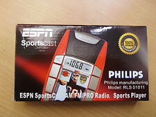 Philips RLS01011 Radio Sports Player ESPN Sports Cast AM/FM/PRO