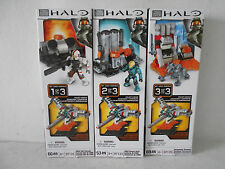 Mega Bloks Halo UNSC Hangar Deck Sets 1,2,3 - 97131/97133/97170 - New in Boxes