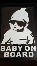 Baby on Board Window/Bumper Sticker Vinyl for Fiat Grande Punto Evo Abarth Panda