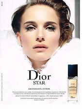 PUBLICITE ADVERTISING 114  2014   DIOR  cosmétiques NATALIE PORTMAN