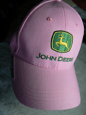 'JOHN DEERE' EMBROIDERED LOGO CAP IN PRETTY PINK by CARY FRANCIS GRP-NEW W/O TAG