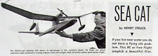 "Vintage SEA CAT 69"" RC Amphibian Model Airplane PLANS + Construction Article"