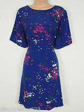 BNWT Definitions Blue Floral Print Day Dress Size 20 RRP £48