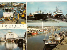 LORIENT port de pêche multivues timbrée 1981