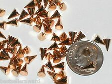 10pc Miniature dollhouse tiny little Golden cone Metal Spike charm flat back 4mm