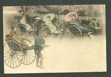 Pre 1910 Unused Japanese Postcard Rick Shaw Drivers