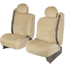 Truck Seat Covers Front Pair Tan Encore Cloth Built-in Seat Belt for Chevy Tahoe