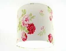 """Lampshade Handmade with Cath Kidston Antique Rose Bouquet Old White Wallpaper 8"""""""