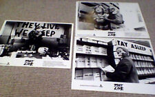 THEY LIVE 3 x UK Cinema Press Still Photographs 1988 John Carpenter Roddy Piper