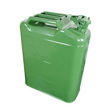 LIGHT GREEN NATO JERRY CAN 5 GALLON 20 BACKUP STEEL FUEL GAS TANK WITH SPOUT