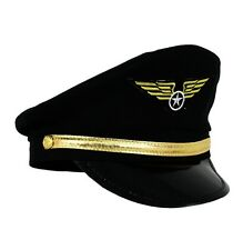 CHILDRENS KIDS BOYS PILOT HAT CAP AIRLINE CAPTAIN FANCY DRESS