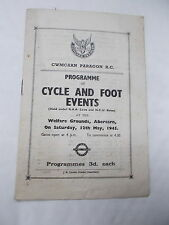 WW2 Programme Of Cycle & Foot Events @ Abercarn - Cwmcarn Paragon R.C.
