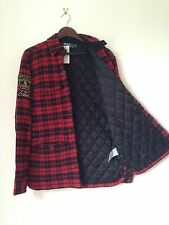 Man Ralph Lauren Hunting Jacket Red Wool Size M RRP £290