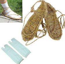 COSPLAY BLEACH STRAW SANDALS SLIPPER SHOES SOCKS size L 8-10.5(Men) 9.5-12 women