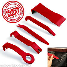 5pcs Red High-Strength Nylon Car Door Panel Dash Trim Removal Pry Open Tool Kit