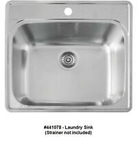 BLANCO 441078 ESSENTIAL Single Bowl Drop-In Stainless Steel Utility Laundry Sink