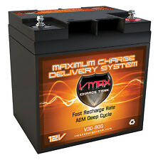 VMAX800 Golf Cart Lectronic Kaddy Dyna Steer Comp.12V 30Ah AGM VMAX Battery
