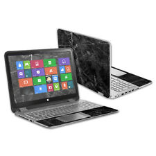 """Skin Decal Wrap for HP Envy x360 15.6"""" (2014) cover sticker skins Black Marble"""