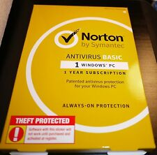 NORTON SYMANTEC ANTI-VIRUS BASIC 2016 1 PC/1 Year *SEALED in RETAIL BOX!! NEW!!