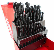 New 29-Pc Drill Bit Set High Speed Bits Steel Drill Bits w/ Metal Index Box