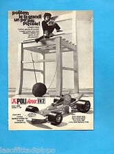TOP973-PUBBLICITA'/ADVERTISING-1973- POLISTIL - MARCH FORD 721 POLITOYS FX2