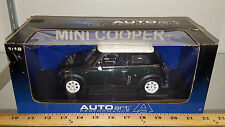 1/18 BMW MINI COOPER RACING GREEN WITH WHITE TOP BY AUTO ART