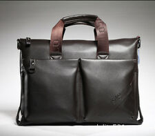 Mens Genuine Leather Laptop Handbag Briefcase Wallet Shoulder Messenger Bag
