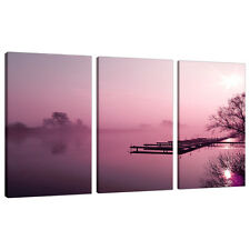 Lot de 3 photos mural prune SPLIT toile paysages art prints 3120