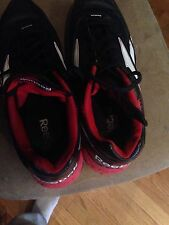 Red and Black Men's Reebok Sz 11 Low Baseball Metal Cleats