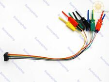 Colorful 10 pins logic analyzer JTAG SMT TEST IC Hook Clip CABLE Gripper Probe