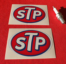 "2 X 3"" STP OIL VINYL CLASSIC RACE RALLY RETRO sticker Aufkleber autocollant"