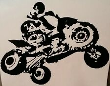 1 atv quad four wheeler decal Sticker Car Window Truck