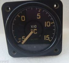 British Raf Sangamo Temperature Gauge 6a/3683 Venom -50 - 150 Degrees Celsius
