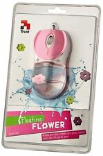 NEW TRUST 16743 UNIQUE PINK FLOATING FLOWERS OPTICAL USB MOUSE SALE