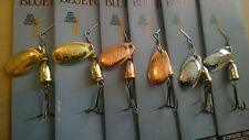 6 x # 2 Pesca Spinner Lures Vibrax Spinners
