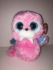 """TY TUSK PINK WALRUS 6"""" BEANIE BOOS-NEW, MINT TAG *SUPER SOFT & ADORABLE*"""