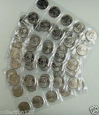 United States 50 STATE PLUS 6 TERRITORIAL QUARTERS COINS 1999-2009 UNC
