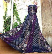 Magical& Rare MONSOON *Geisha* patch panel Oriental SILK occasion gown sz 14/16